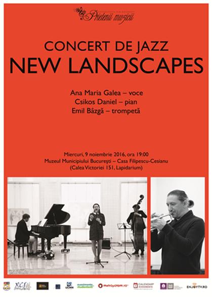 """New landscapes"" – un nou concert de jazz marca ""Prietenii Muzicii"""