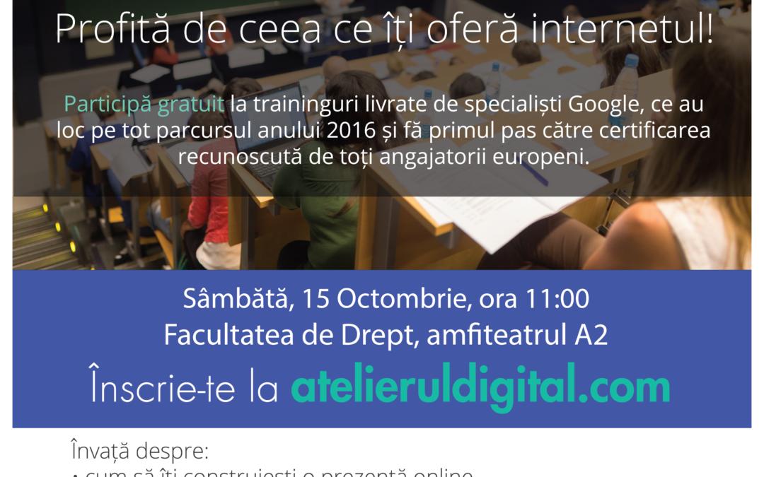Atelierul Digital la Universitatea din București