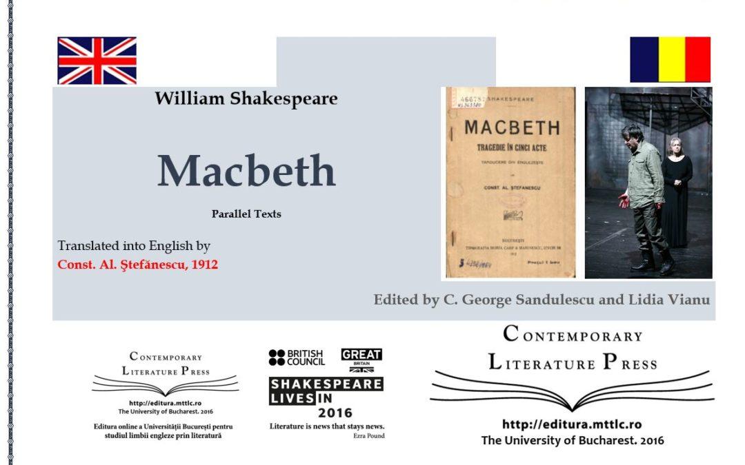 """Editura pentru Literatură Contemporană a lansat volumul """"Macbeth"""" de William Shakespeare"""