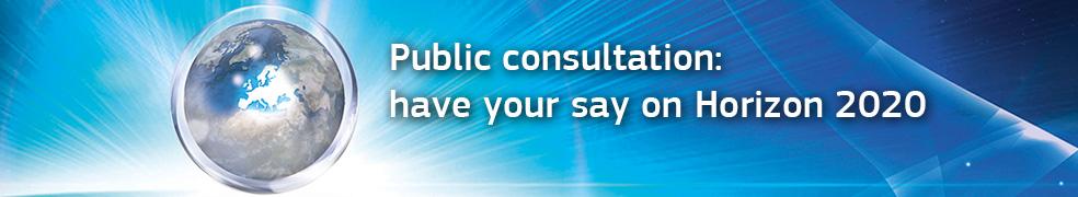 """Consultare publică: """"Spuneți-vă părerea despre Orizont 2020"""""""