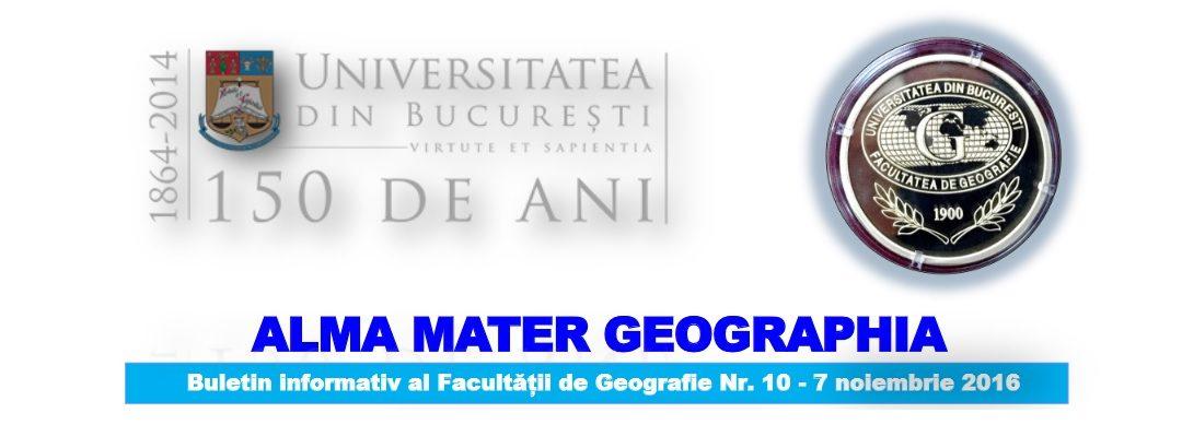 """Buletinul informativ """"Alma Mater Geographia"""" a ajuns la numărul 10"""