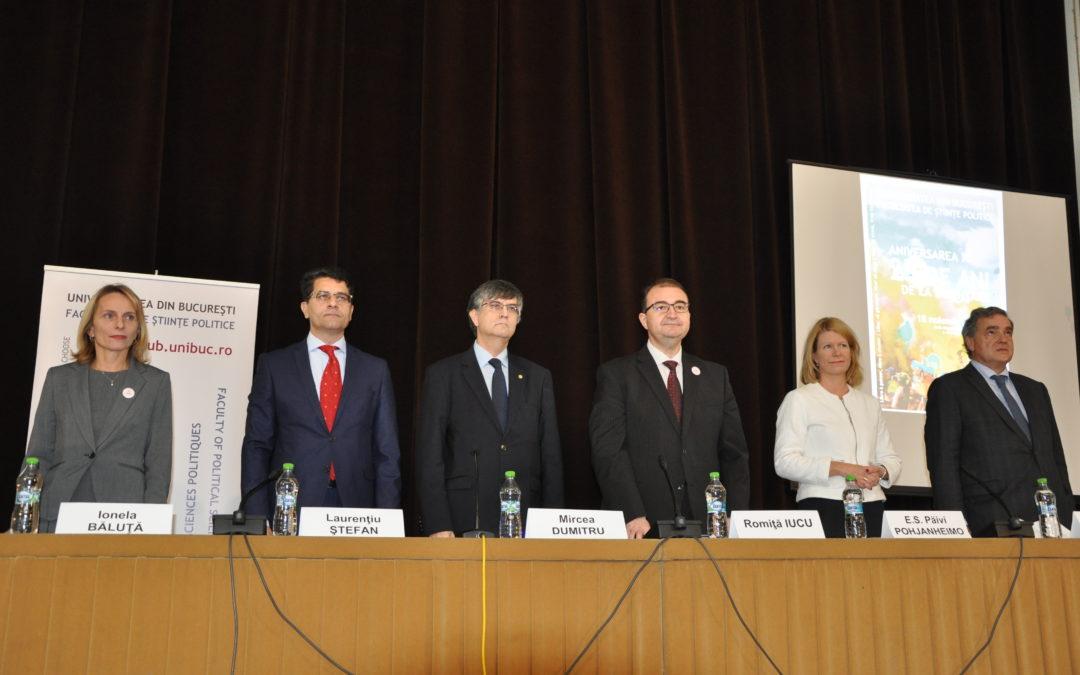 Facultatea de Științe Politice a Universității din București a aniversat un sfert de veac de la înființare