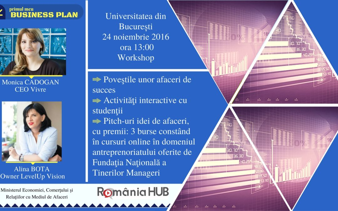 """""""Primul meu business plan"""", workshop de antreprenoriat pentru studenții Universității din București"""