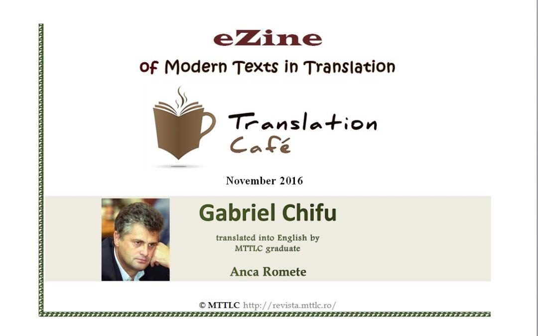 Translation Café No 171 publică traducerea unor poeme de Gabriel Chifu