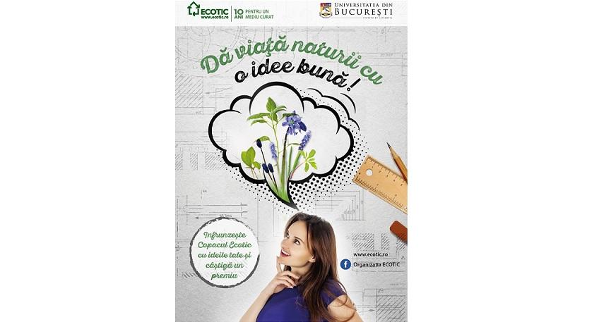 """Universitatea din București și ECOTIC demarează campania ,,Dă viață naturii cu o idee bună!"""""""