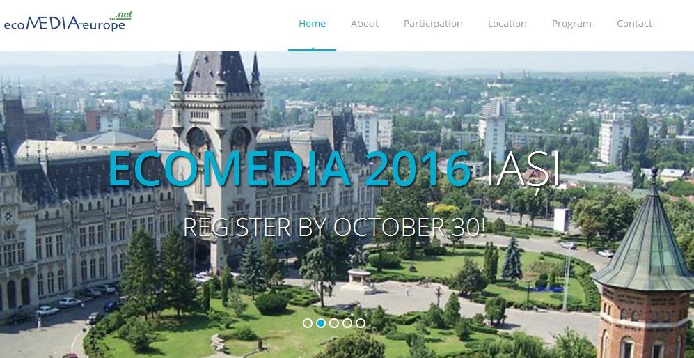"""A XI-a ediție a Conferinței Internaționale """"ecoMEDIA Europe 2016: Strategii inovative în domeniul educației"""""""