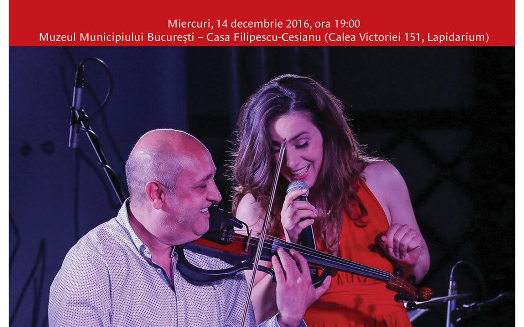 Întâmpină Sărbătorile de iarnă cu un concert de jazz oferit de Irina Sârbu, Puiu Pascu, Ciprian și Tudor Parghel