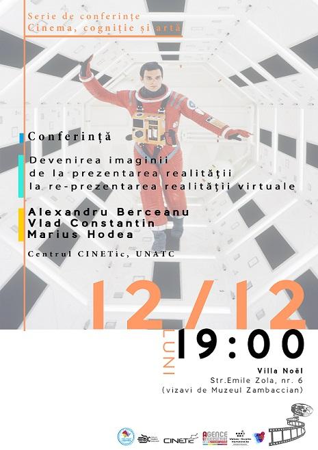 """Conferința """"Devenirea imaginii de la prezentarea realității la re-prezentarea realității virtuale"""""""