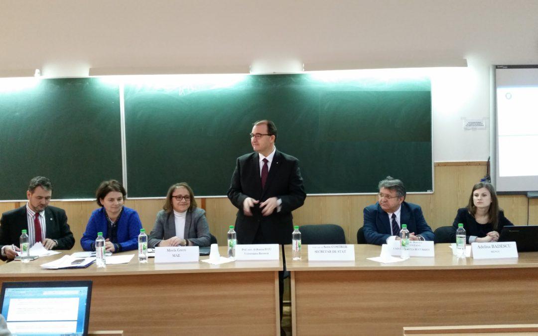 Reuniunea prorectorilor și responsabililor de relații internaționale din instituțiile de învățământ superior de stat și privat la Universitatea din București