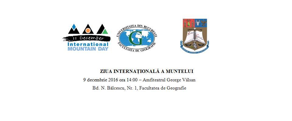 Ziua Internațională a Muntelui celebrată la Facultatea de Geografie