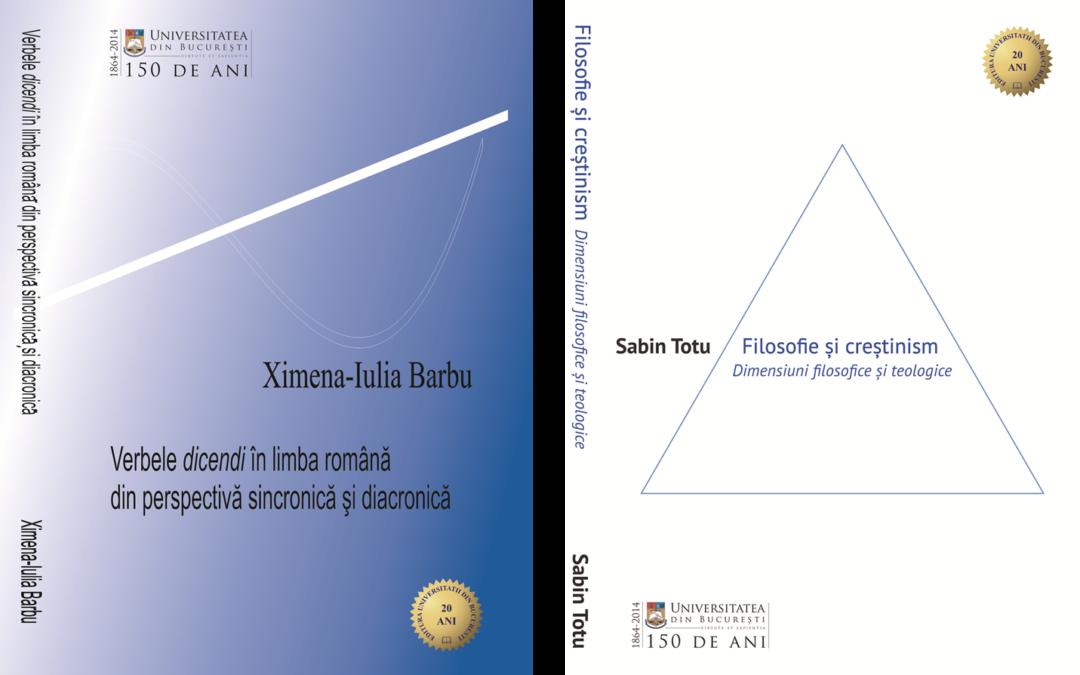 Premii ale Academiei Române pentru două volume apărute la Editura Universității din București