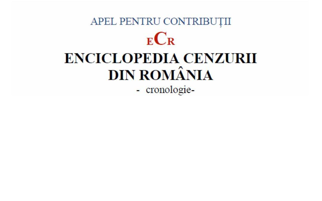 Enciclopedia Cenzurii din România – apel la contribuții