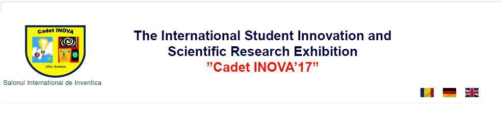 """Cea de-a doua ediție a Salonului Internațional al Inovării și Cercetării Științifice Studențești  –  """"Cadet INOVA '17"""" – apel la contribuții"""