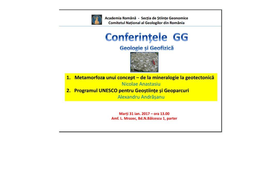 Conferințele de Geologie și Geofizică la Facultatea de Geologie