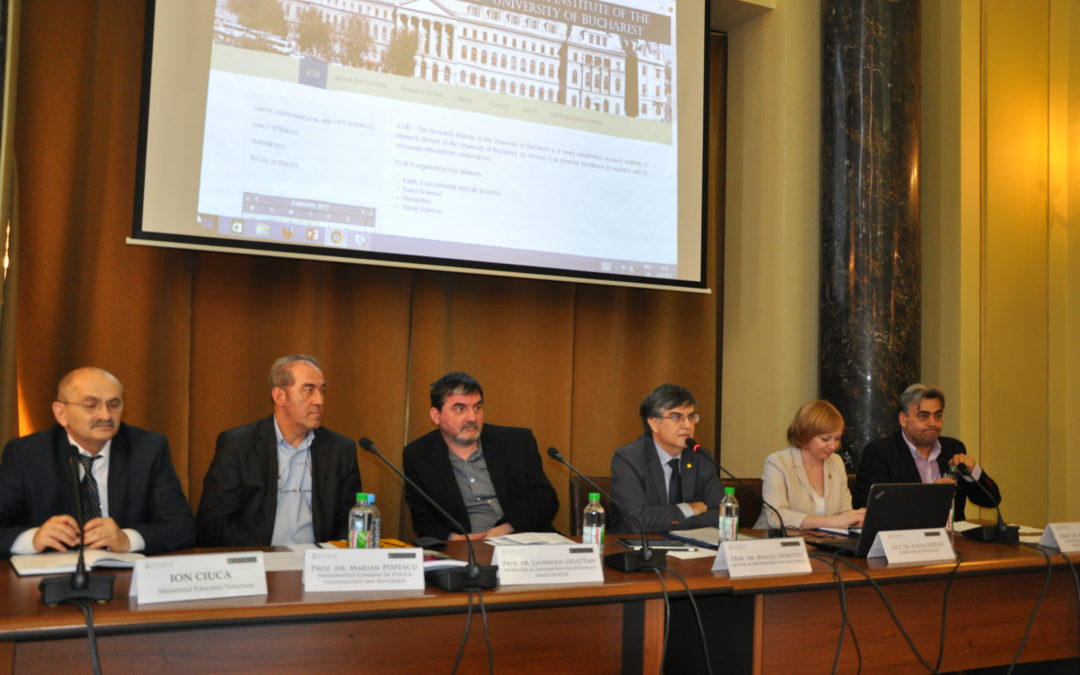 """Dezbaterea ,,Etică și integritate academică. Plagiatul: cauze, dimensiuni ale fenomenului și politici"""" la Universitatea din București"""
