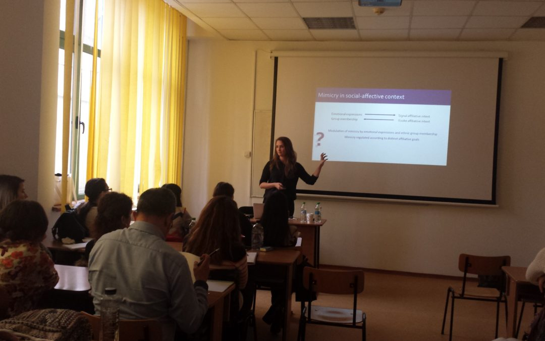 "Sesiune informativă cu tema ""Mimicry and its modulation by emotional expressions and ethnic group membership: A multi-method approach"" la Facultatea de Psihologie și Științele Educației"