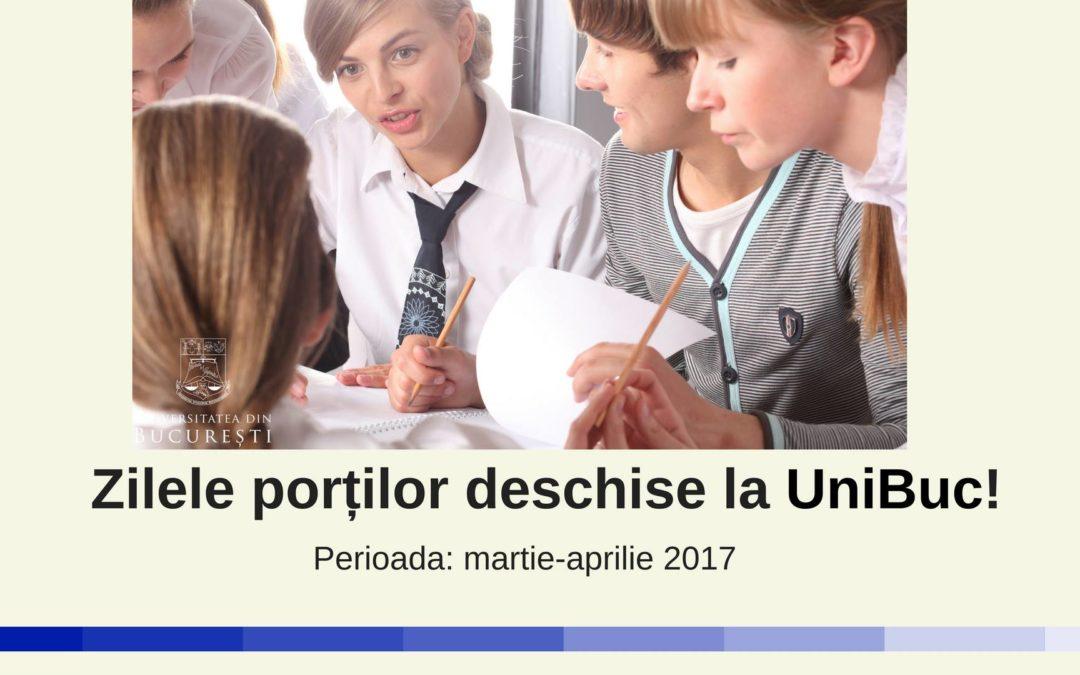 Facultățile Universității din București își deschid porțile viitorilor studenți