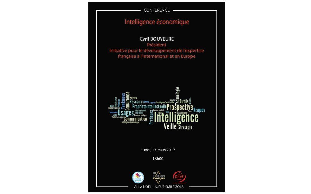 """Conferința """"Intelligence économique"""" – Cyril Bouyeure"""