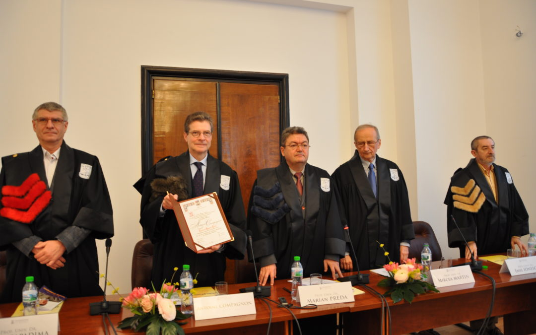Profesorul Antoine Compagnon, Doctor Honoris Causa al Universității din București