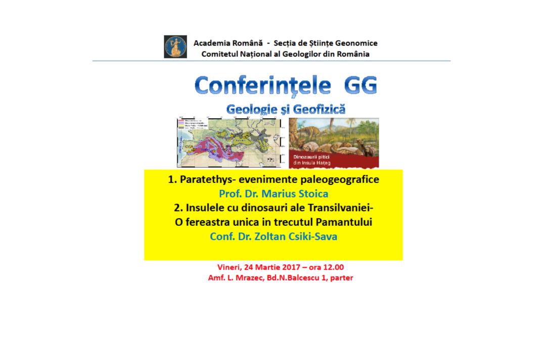 Un nou seminar sub egida Conferințelor de Geologie și Geofizică