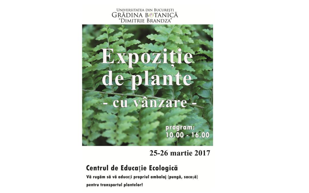 """Expoziție cu vânzare de plante ornamentale de interior la Grădina Botanică """"D. Brândză"""""""