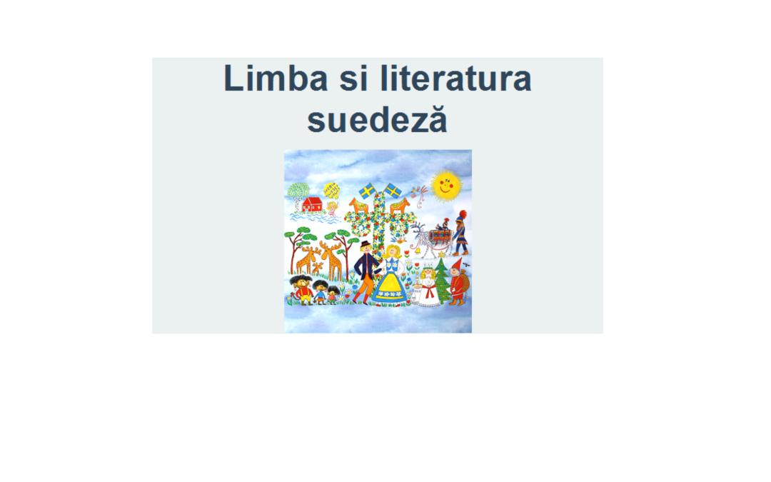 Studenții secției de Limba și literatura suedeză vor participa la un eveniment dedicat literaturii suedeze pentru copii