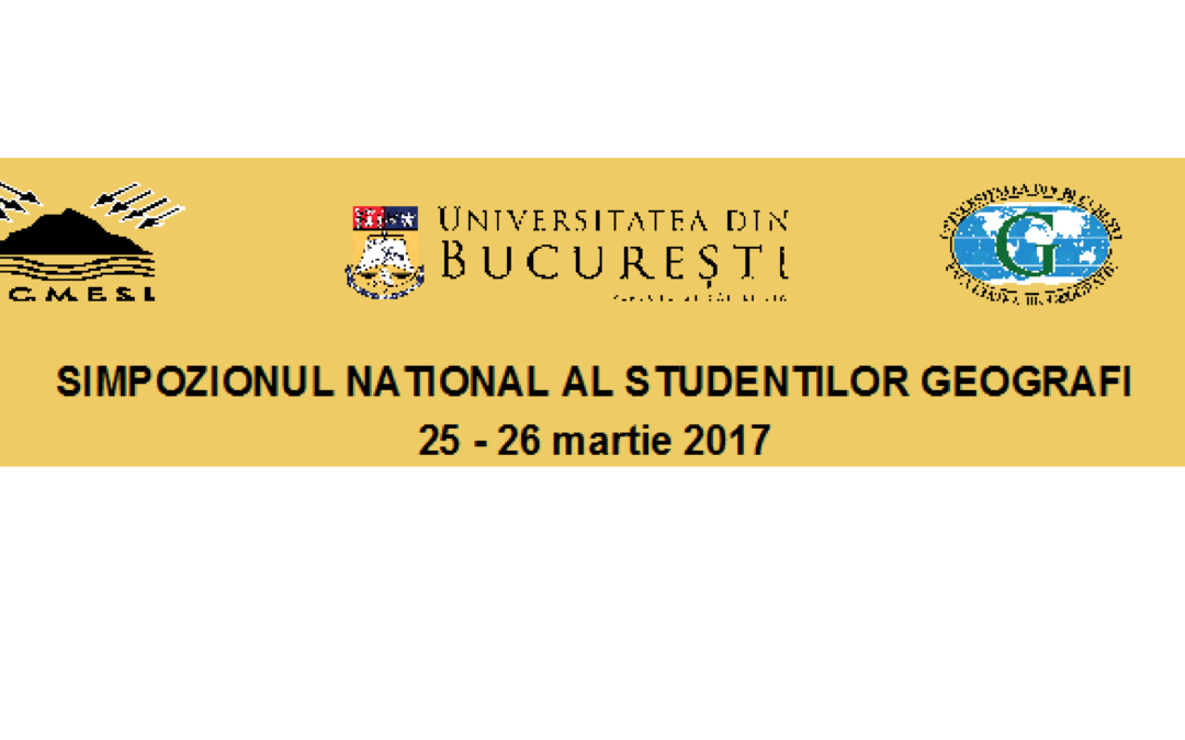 Simpozionul Naţional al Studenţilor Geografi