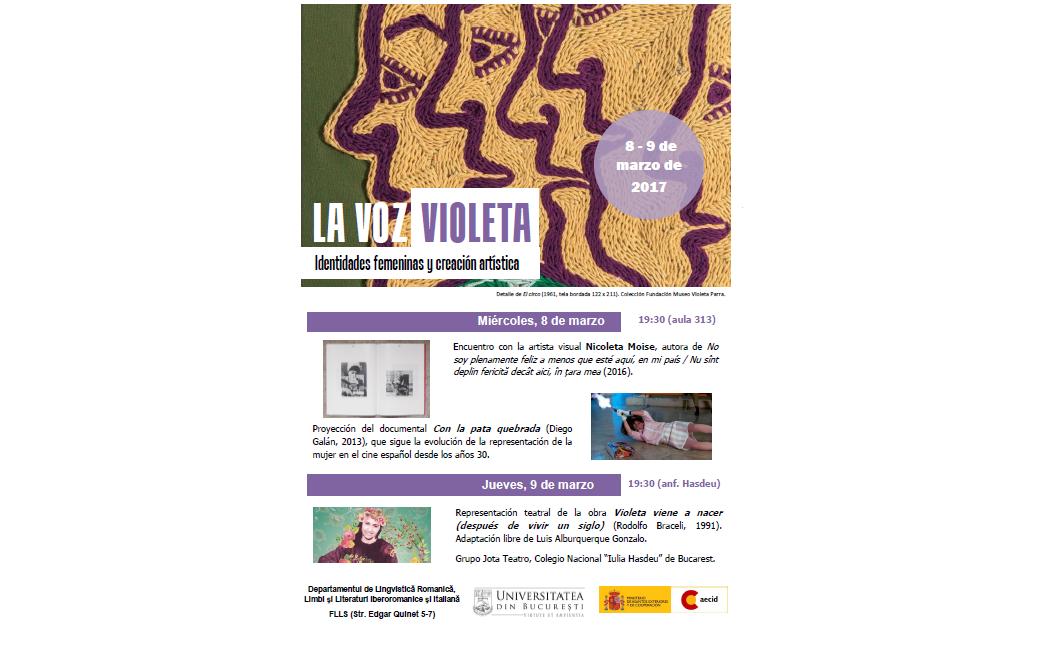 Evenimente culturale la Departamentul de Lingvistică Romanică, Limbi şi Literaturi Iberoromanice şi Italiană