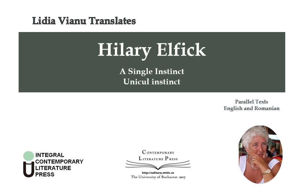 "Lansarea volumului ""Lidia Vianu Translates. Hilary Elfick: A Single Instinct. Unicul instinct"" la Contemporary Literature Press"