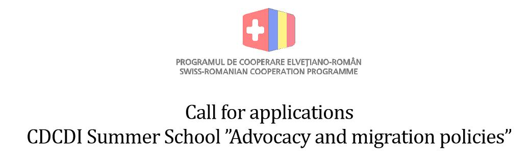 """Școala Internațională de Vară """"Politici de Advocacy și Migrare"""" – apel la contribuții"""