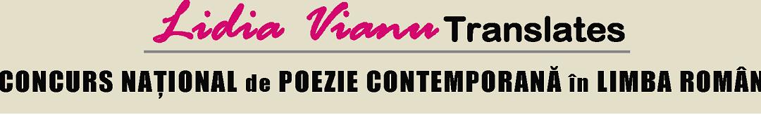 """Concursul Național pentru Traducerea Poeziei Românești """"Lidia Vianu Translates"""", în parteneriat cu Universitatea din București"""