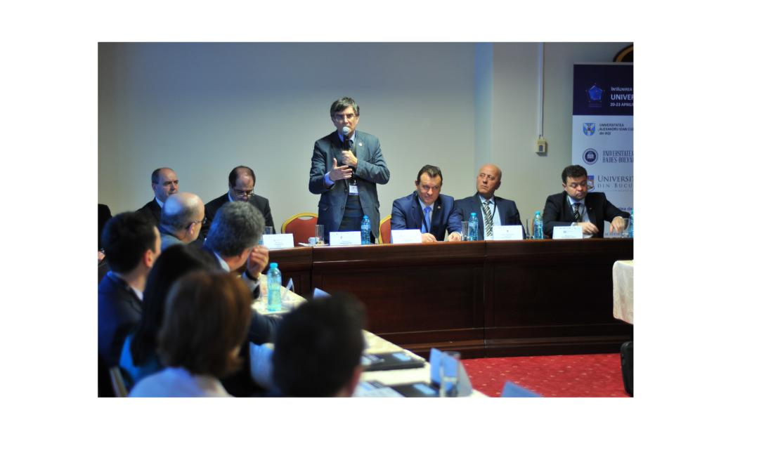 Conducerea Universității din București participă la întâlnirea consorțiului Universitaria de la Tulcea