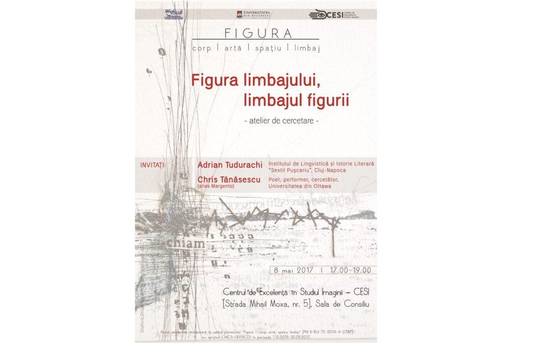 """Atelierul de cercetare """"Figura limbajului, limbajul figurii"""", organizat de Centrul de Excelență în Studiul Imaginii (CESI) al Universității din București"""