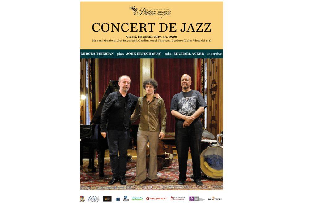 """Concert de jazz ,,Prietenii Muzicii în Universitatea din București"""" de Ziua Internațională a Jazzului"""
