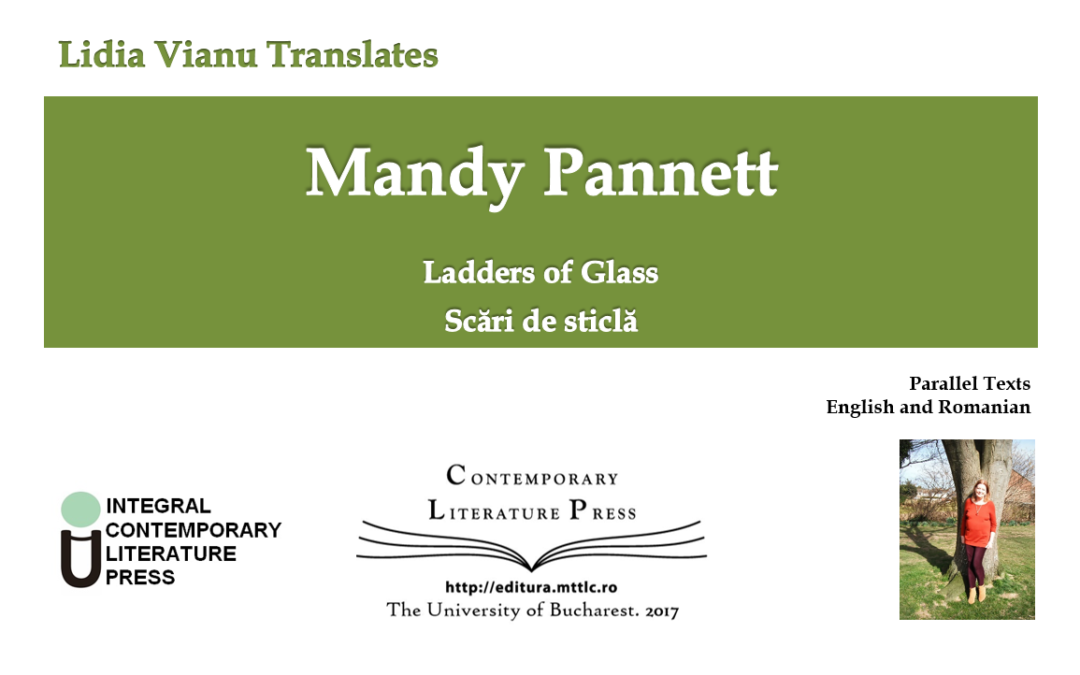 "Volumul ""Lidia Vianu Translates: Mandy Pannett. Ladders of Glass"" publicat la Contemporary Literature Press"