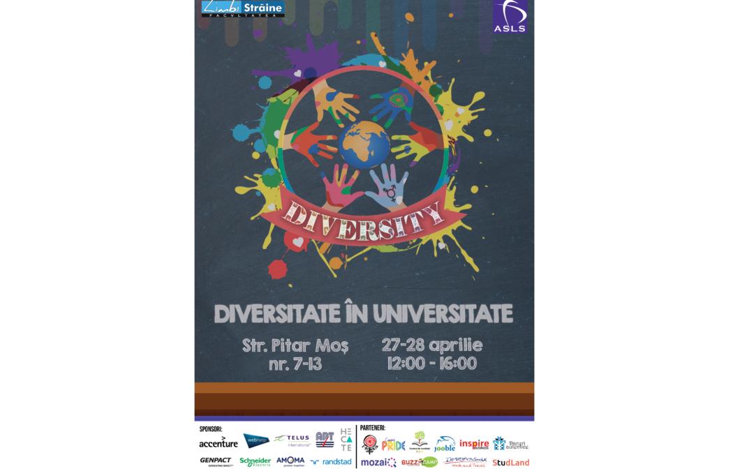 """Proiectul """"Diversity"""" organizat de Asociația Studenților din Facultatea de Limbi și Literaturi Străine"""