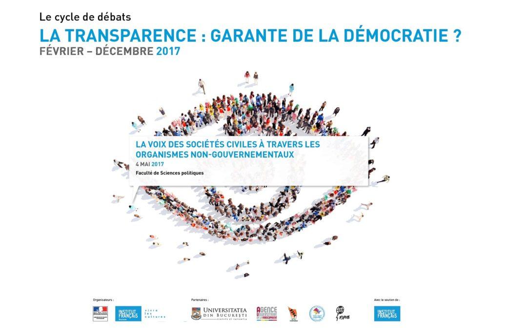 "Masă rotundă cu tema ""La voix des sociétés civiles à travers les organismes non gouvernementaux"" la Facultatea de Științe Politice"