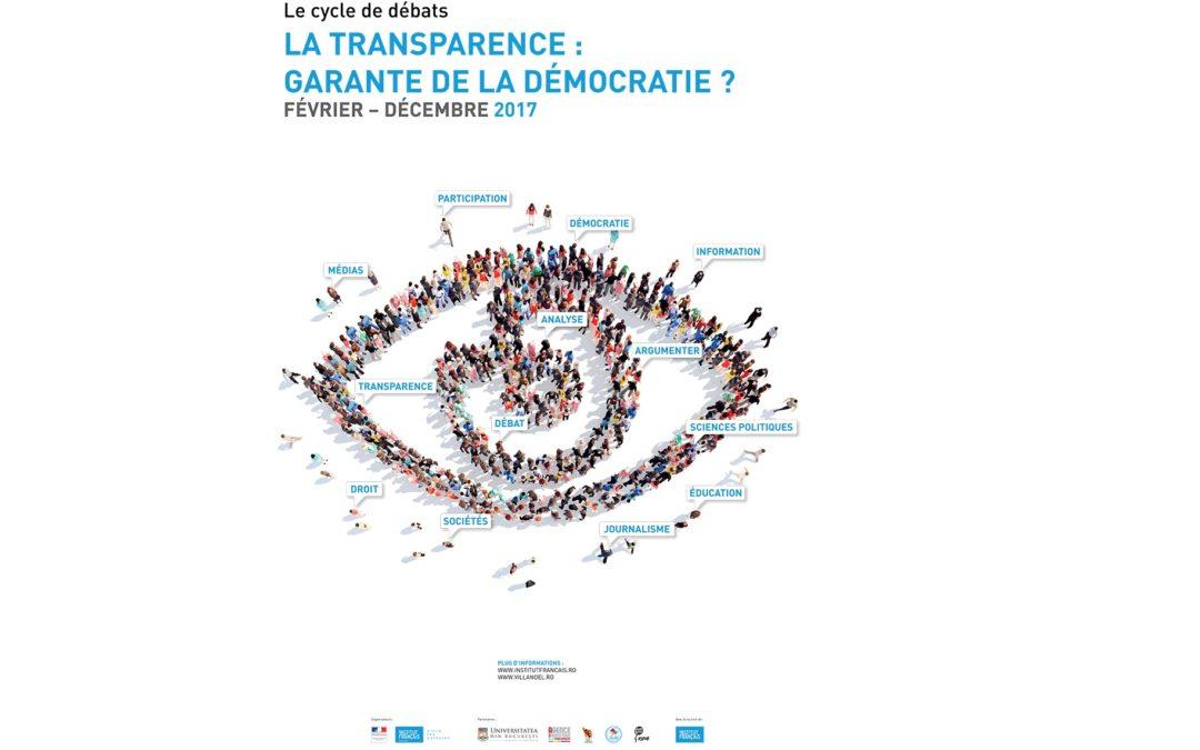 """Dezbateri în cadrul proiectului """"Transparența, garanție a democrației?"""", organizate de Facultatea de Jurnalism și Științele Comunicării"""