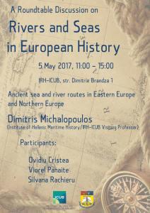 """Masă rotundă cu tema ,,Rivers and Seas in European History"""" la Institutul de Cercetare al Universității din București"""