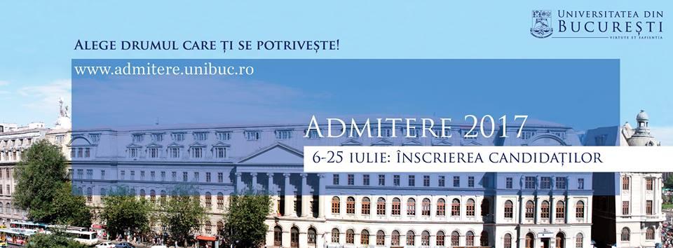 Plata online a taxei de înscriere la admitere, o nouă facilitate oferită de Universitatea din București candidaților săi