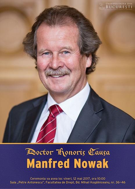 Manfred Nowak, expert în drepturile omului, primește distincția de Doctor Honoris Causa al Universității din București