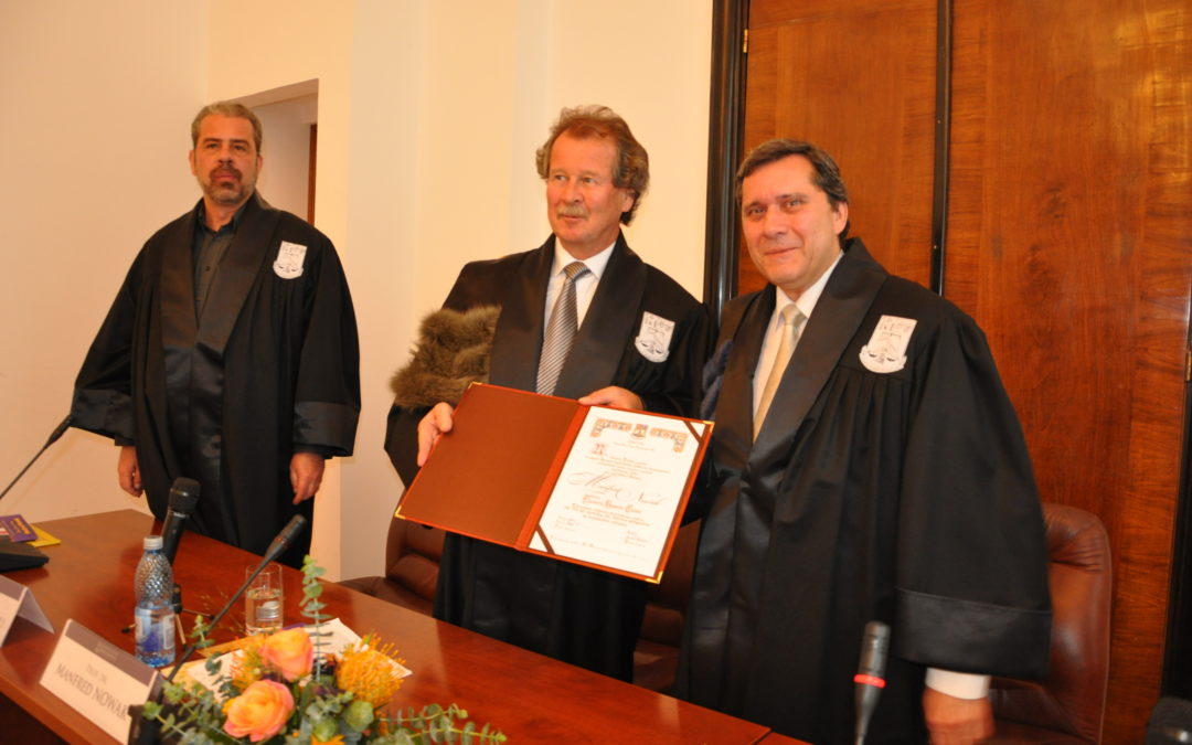 Profesorul Manfred Nowak, Doctor Honoris Causa al Universității din București