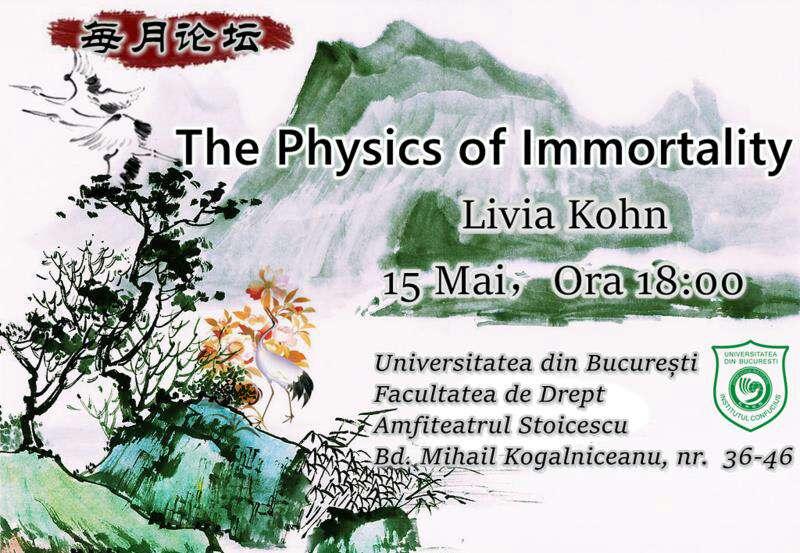 """Prof. univ. dr. Livia Kohn va susține prelegerea """"The Physics of Immortality"""" la Institutul Confucius al Universității din București"""