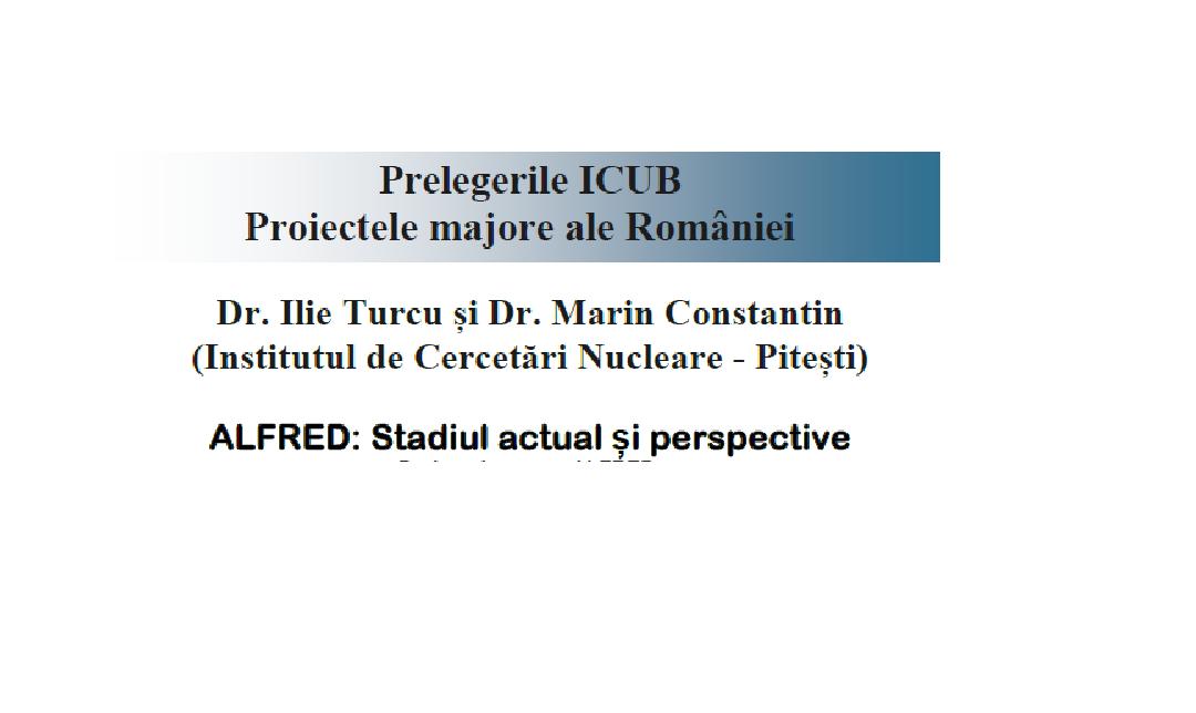 Prezentarea proiectului ALFRED la Institutul de Cercetare al Universității din București