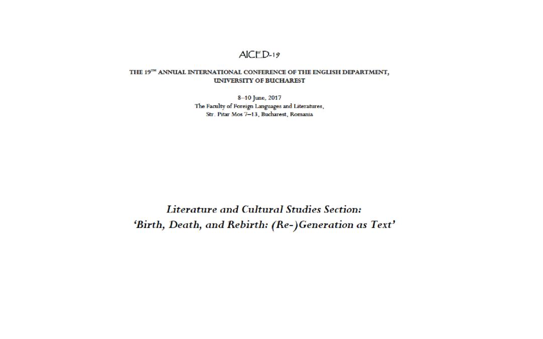 Conferinţa Anuală Internațională a Departamentului de Engleză din Facultatea de Limbi şi Literaturi Străine