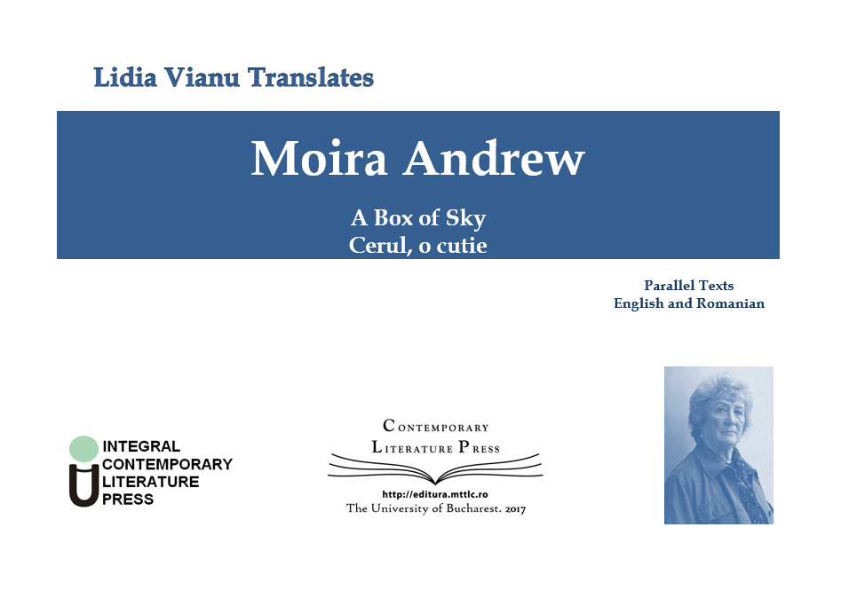 "Lansarea volumului ""Lidia Vianu Translates. Moira Andrew. A Box of Sky. Cerul, o cutie"" la Contemporary Literature Press"