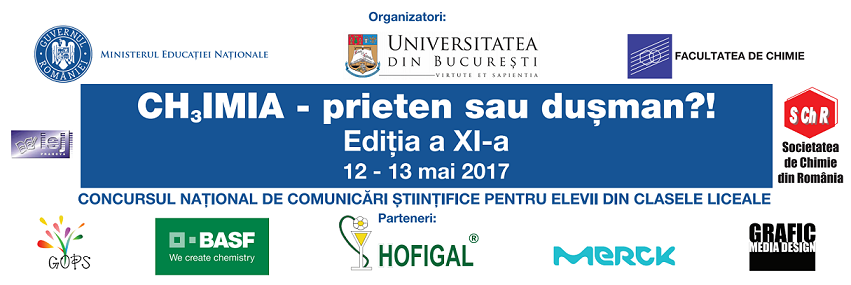 """Universitatea din București organizează concursul național """"Chimia – Prieten sau Dușman?!"""""""