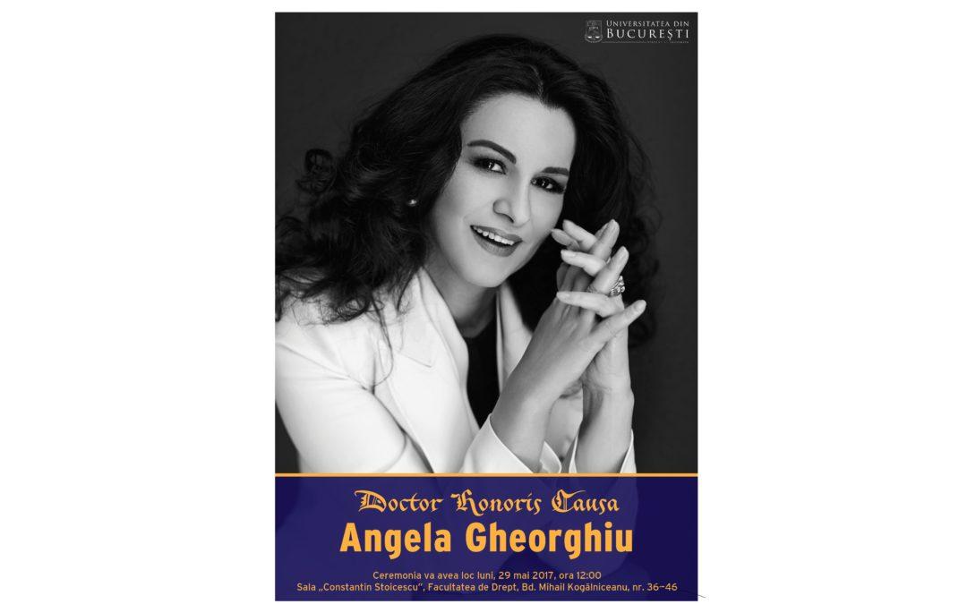 Soprana Angela Gheorghiu, distinsă de Universitatea din București cu titlul de Doctor Honoris Causa
