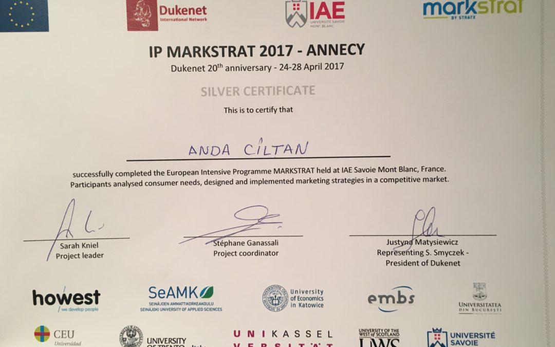 Studenţii Universităţii din Bucureşti  pe podiumul competiţiei europene Markstrat