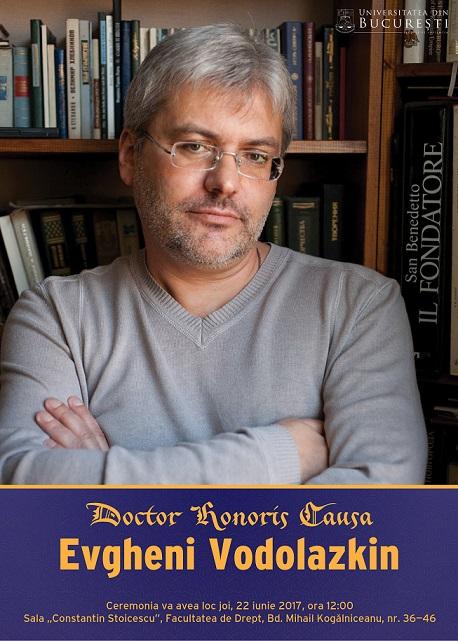 Evgheni Vodolazkin, romancier și specialist în literatura rusă veche, primește distincția de Doctor Honoris Causa al Universităţii din Bucureşti